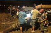 INSTALAN BOMBA EXTRACTORA EN LA TIGRA PARA DESCOMPRIMIR CORTE DE RUTA