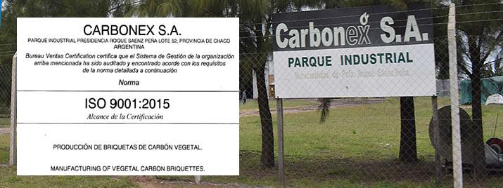 INDUSTRIA DE BRIQUETAS DE CARBON LOGRA CERTIFICACIONES ISO