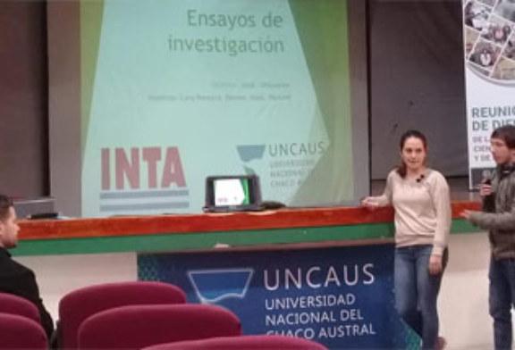 ALUMNOS DE LA UNCAUS Y TECNICOS DEL INTA PRESENTARON ENSAYOS