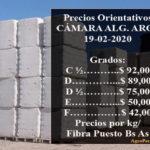 SE MANTIENE EXPECTANTE EL MERCADO DE FIBRA – Se exportaron desde Noviembre 17.000 toneladas